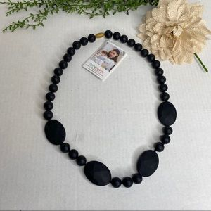 Chewbeads Black Perry Silicone Teething Necklace